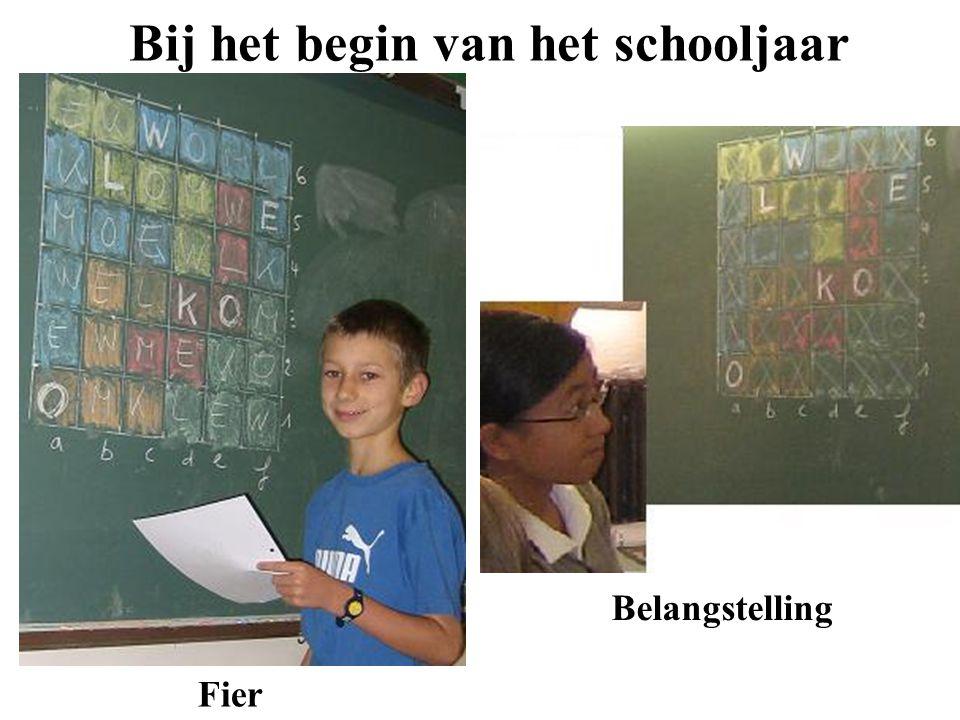 Bij het begin van het schooljaar