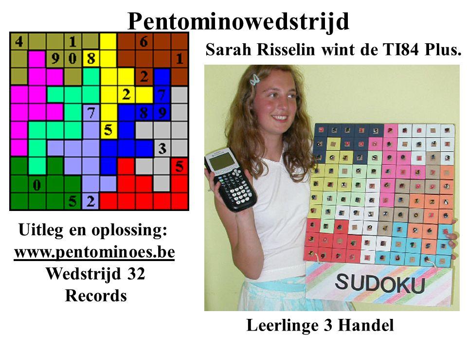 Sarah Risselin wint de TI84 Plus.