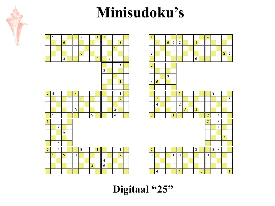 Minisudoku's Digitaal 25