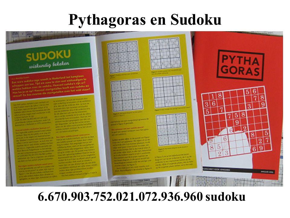 Pythagoras en Sudoku 6.670.903.752.021.072.936.960 sudoku