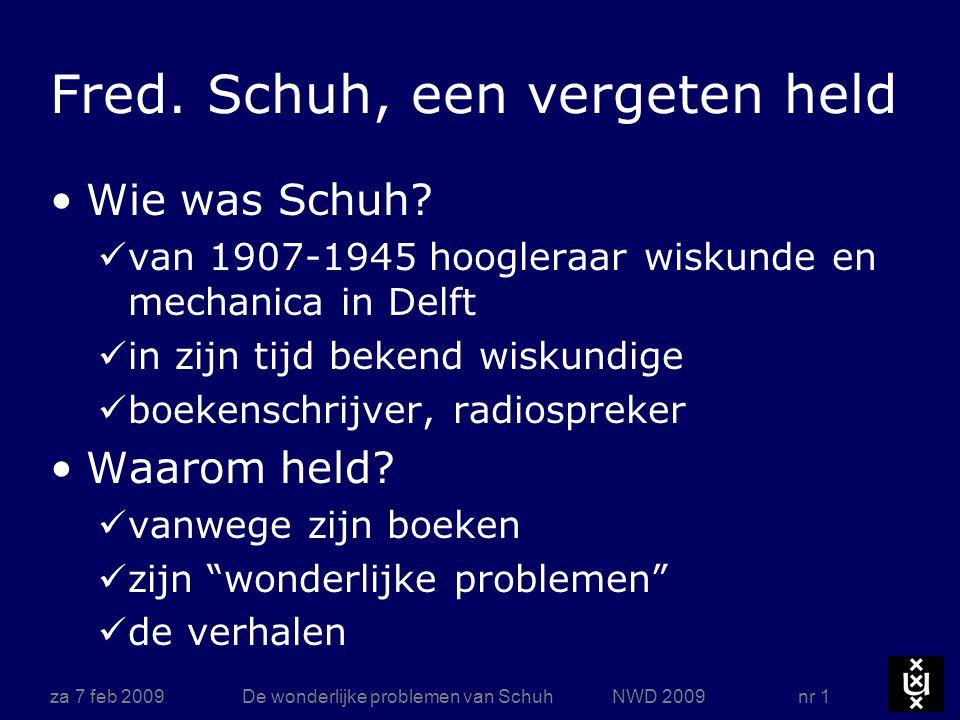 Boeken za 7 feb 2009 De wonderlijke problemen van Schuh NWD 2009