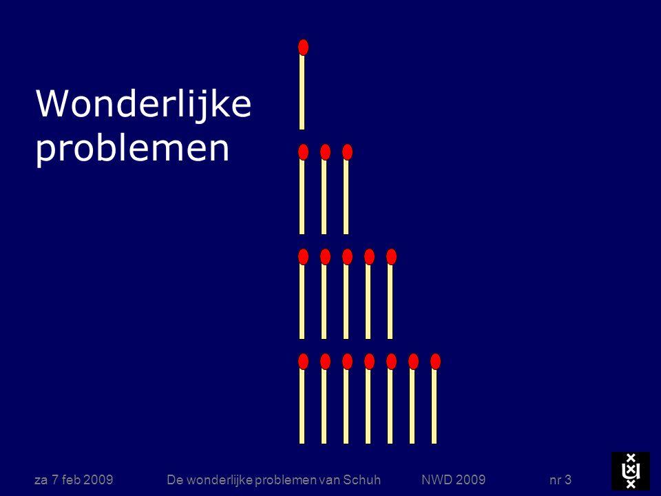 Nimspel (par. 113) Maak vier rijtjes van resp. 1, 3, 5, 7 lucifers