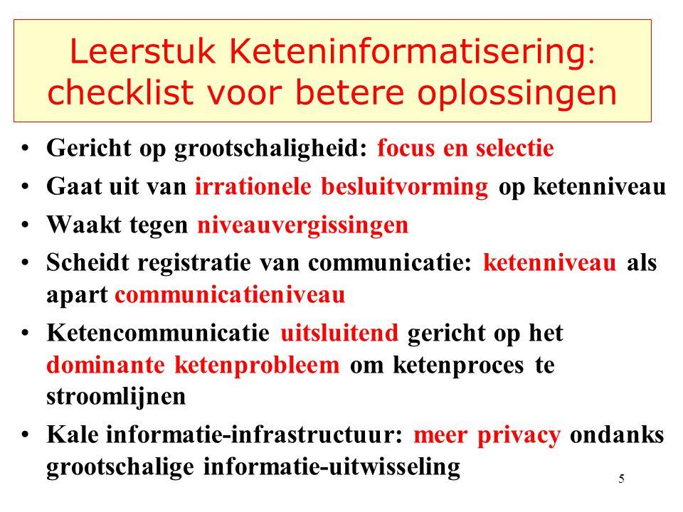 Leerstuk Keteninformatisering: checklist voor betere oplossingen