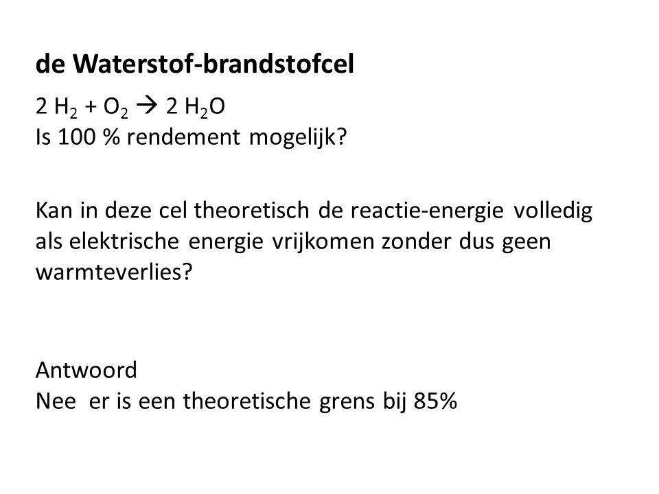 de Waterstof-brandstofcel