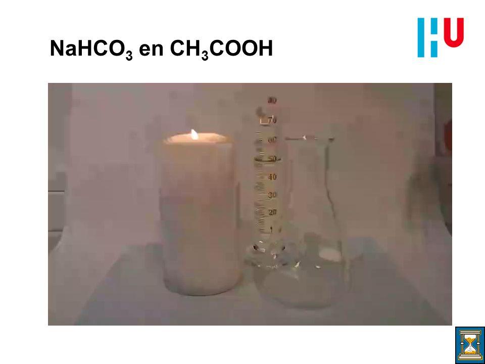 NaHCO3 en CH3COOH