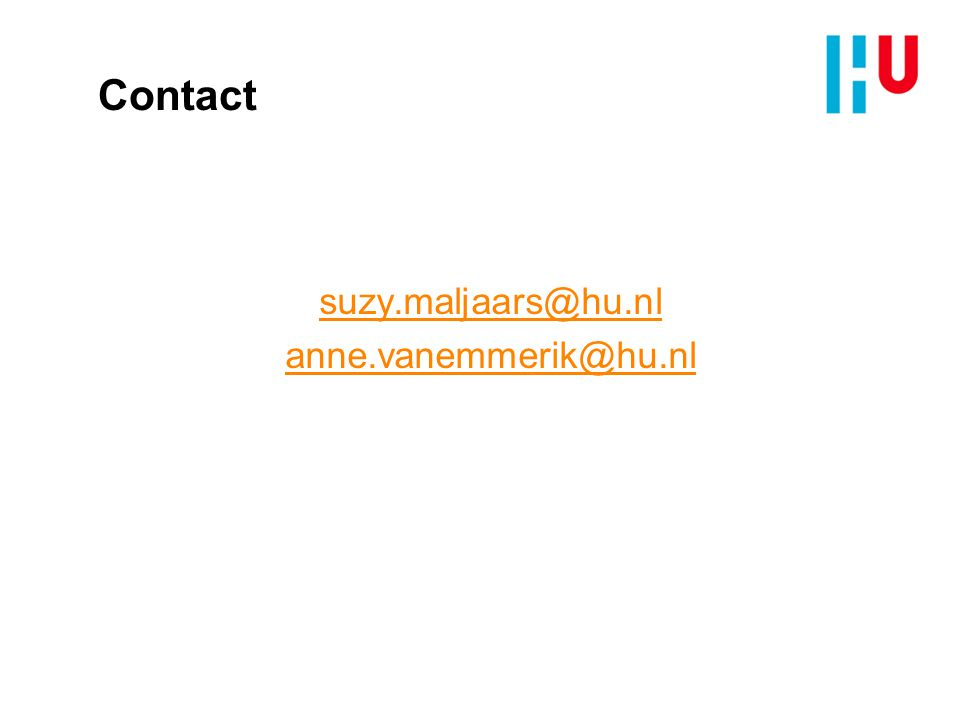 suzy.maljaars@hu.nl anne.vanemmerik@hu.nl
