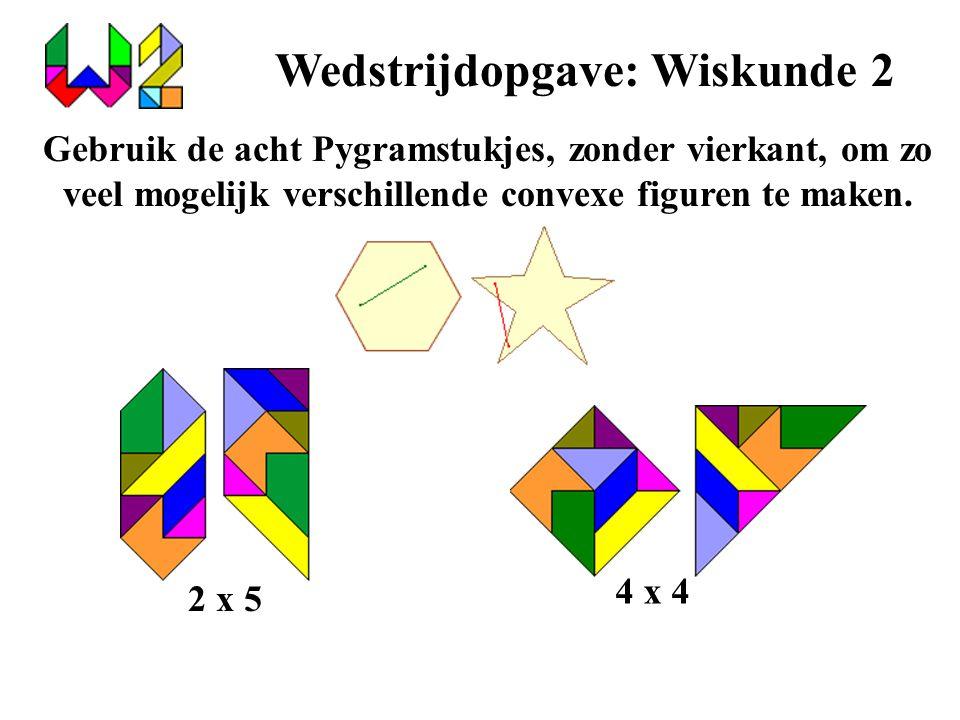 Wedstrijdopgave: Wiskunde 2