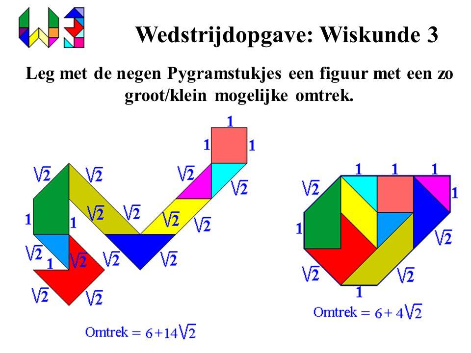 Wedstrijdopgave: Wiskunde 3