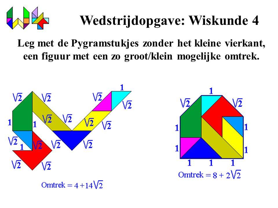 Wedstrijdopgave: Wiskunde 4