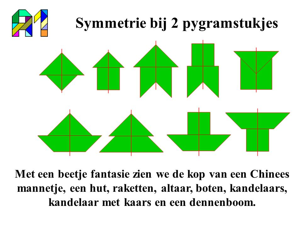 Symmetrie bij 2 pygramstukjes