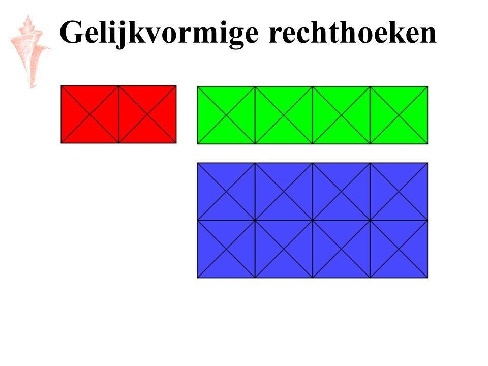 Gelijkvormige rechthoeken