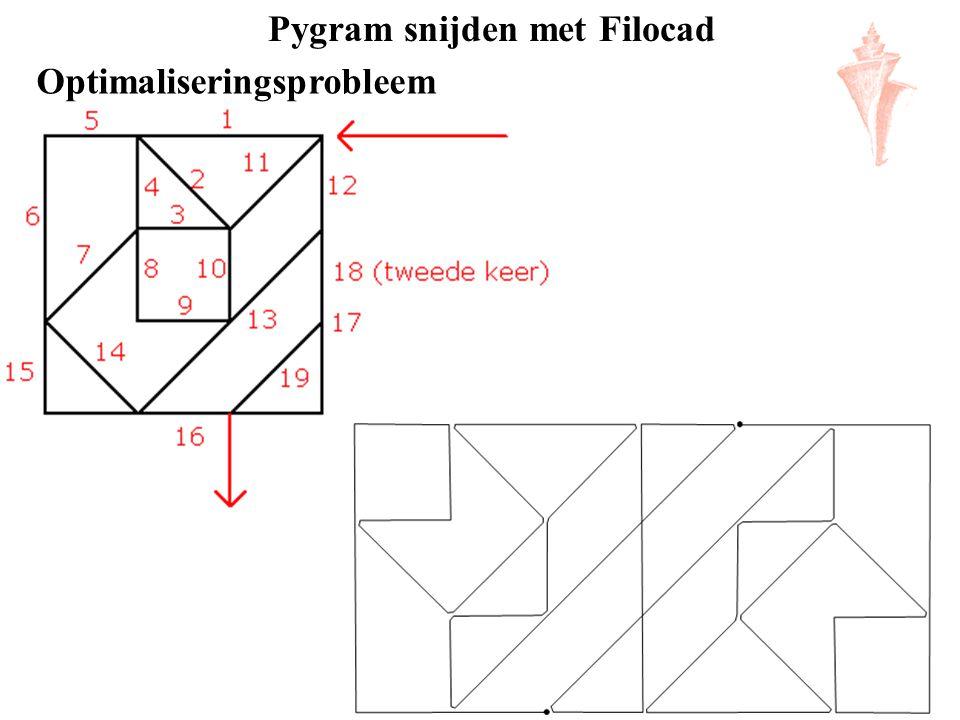 Pygram snijden met Filocad Optimaliseringsprobleem