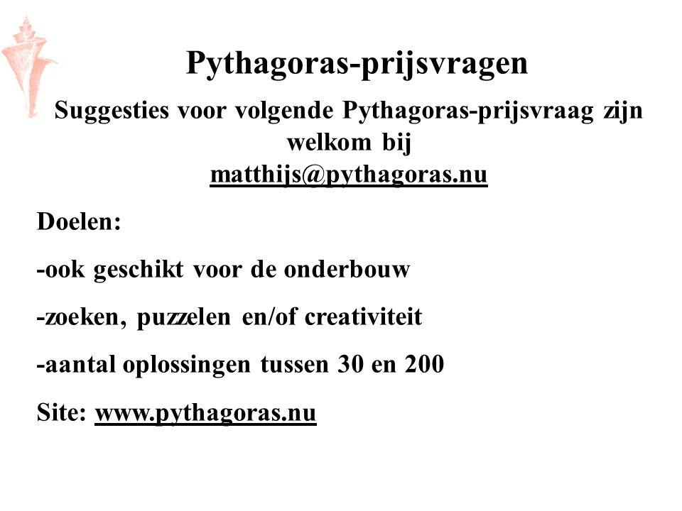 Pythagoras-prijsvragen