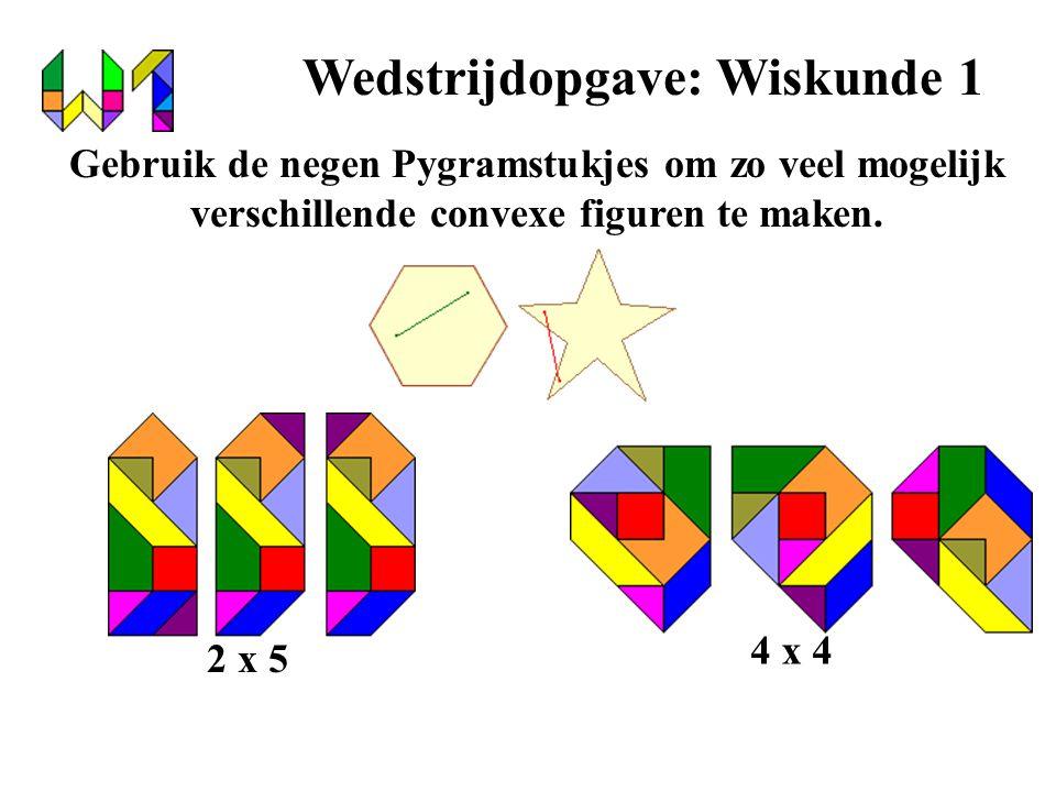 Wedstrijdopgave: Wiskunde 1