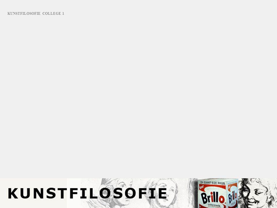 KUNSTFILOSOFIE COLLEGE 1
