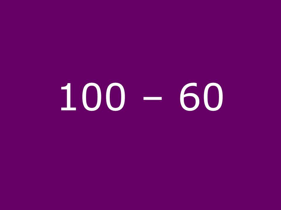 100 – 60