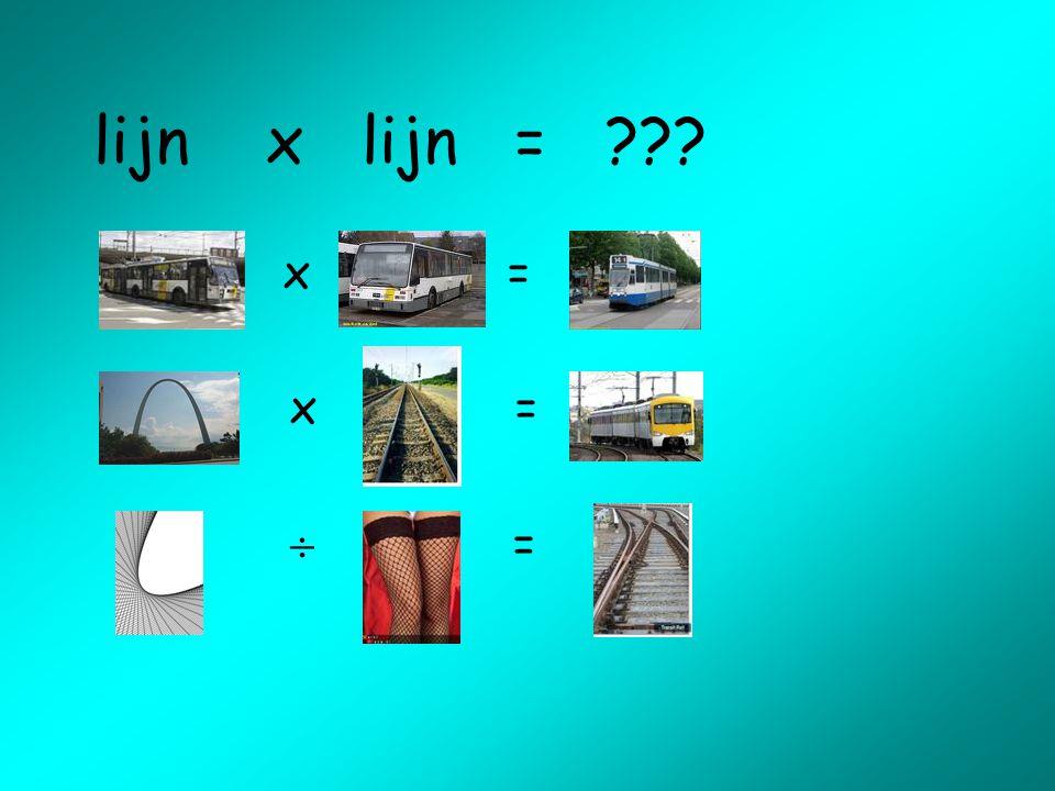 lijn x lijn = x = x =  =