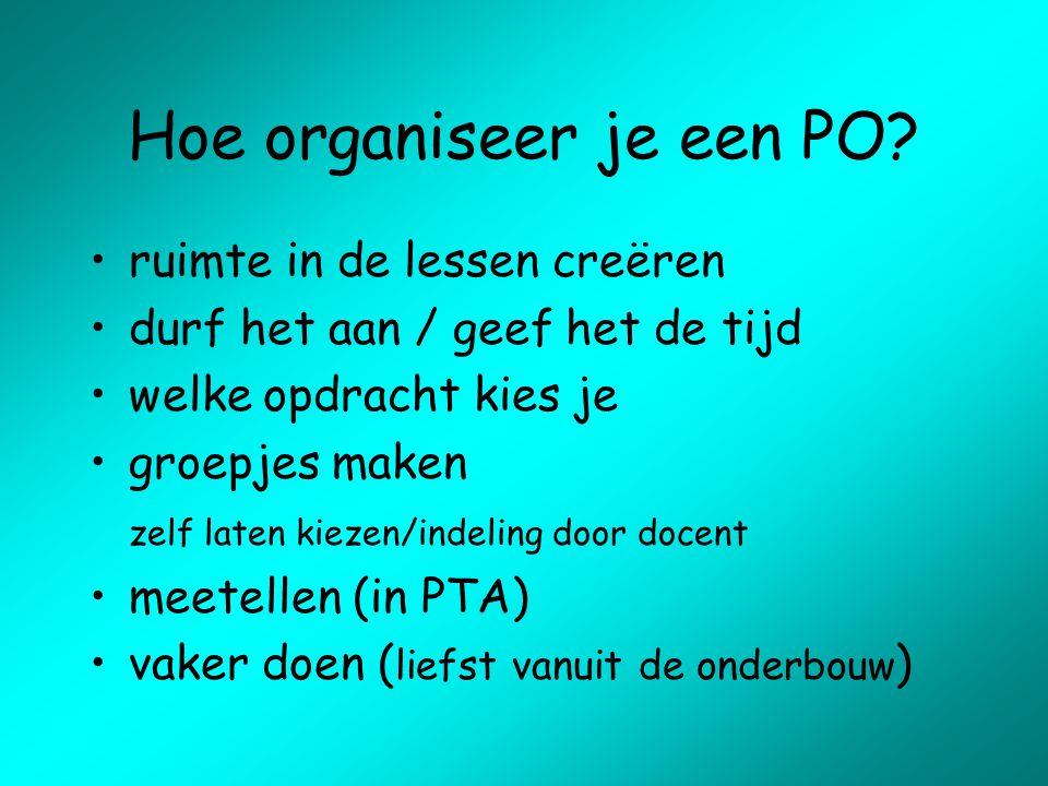 Hoe organiseer je een PO