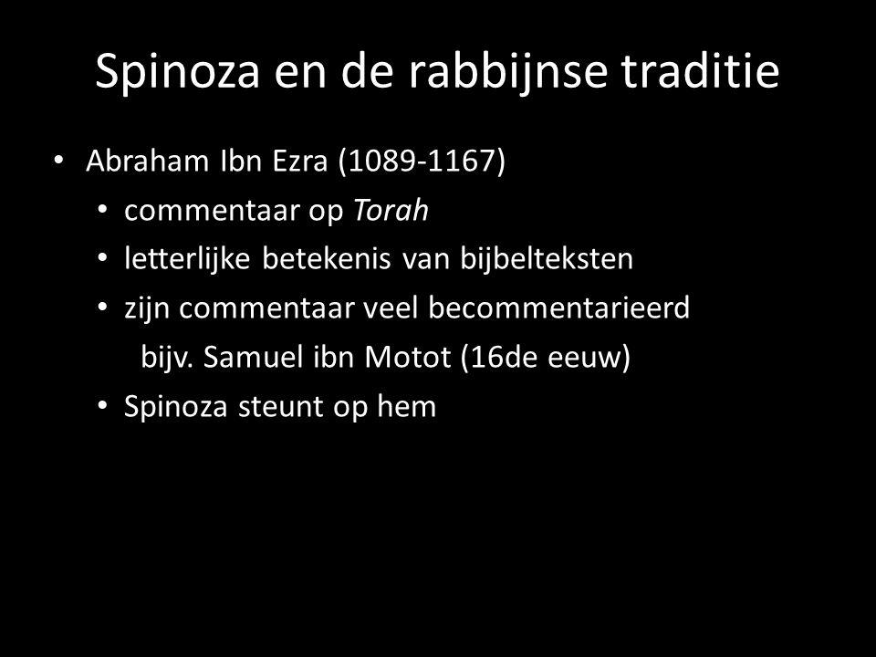 Spinoza en de rabbijnse traditie