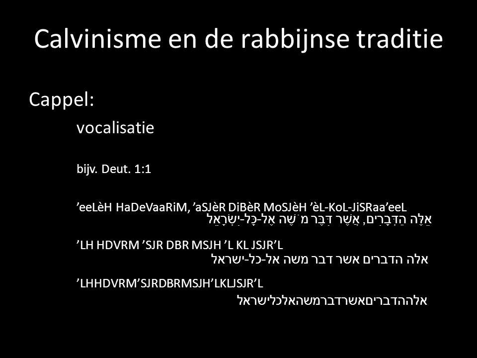 Calvinisme en de rabbijnse traditie