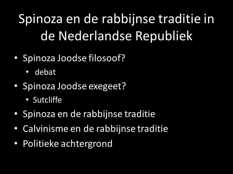 Spinoza en de rabbijnse traditie in de Nederlandse Republiek