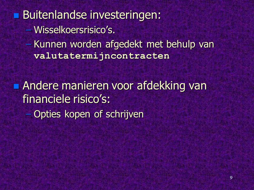 Buitenlandse investeringen: