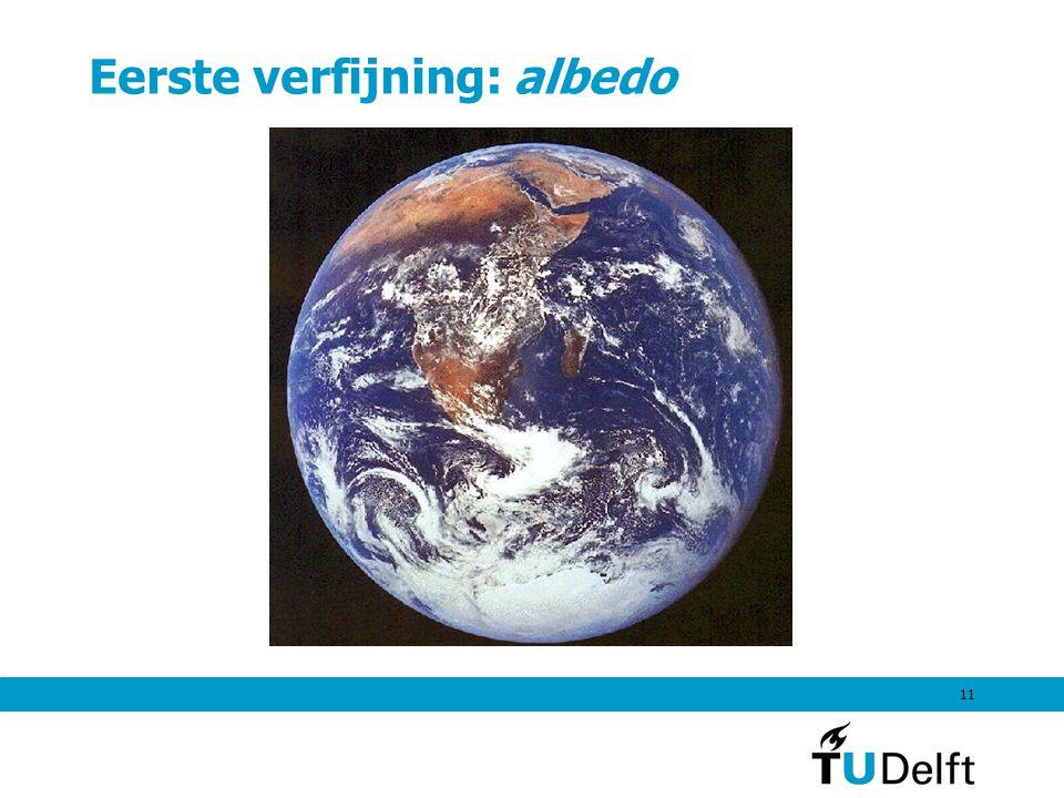 Eerste verfijning: albedo