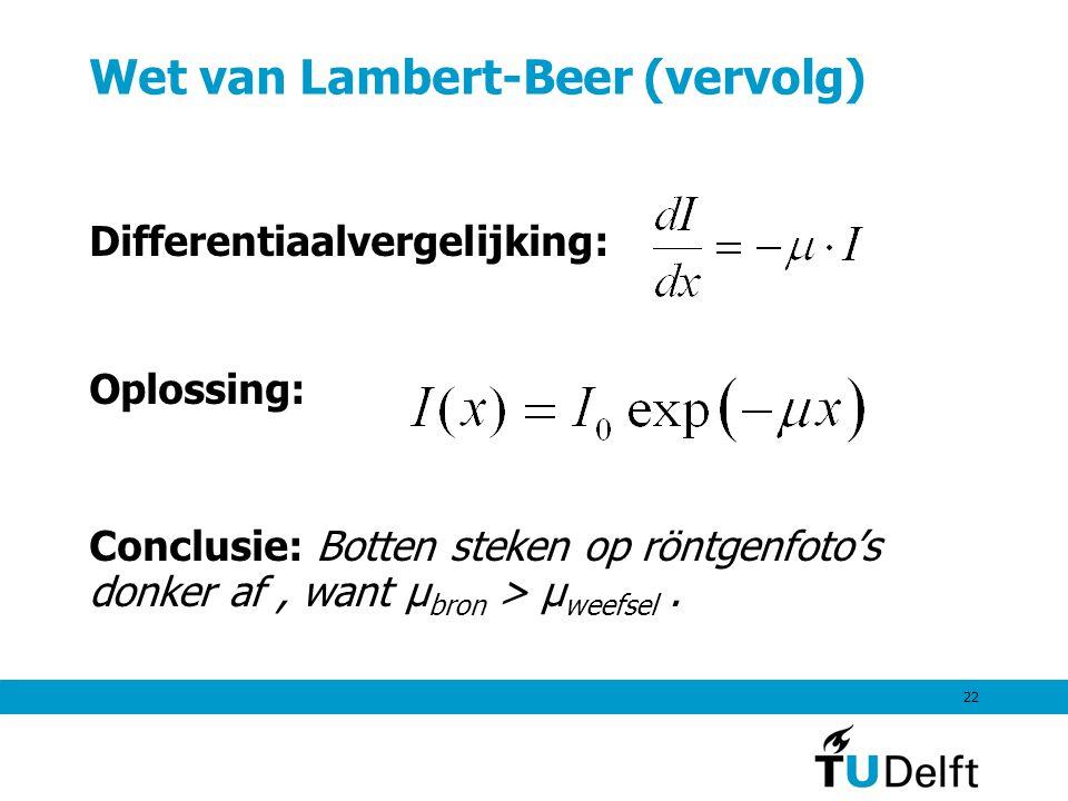 Wet van Lambert-Beer (vervolg)