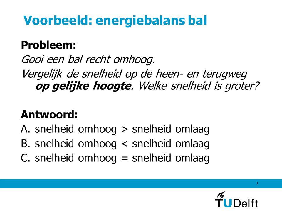 Voorbeeld: energiebalans bal