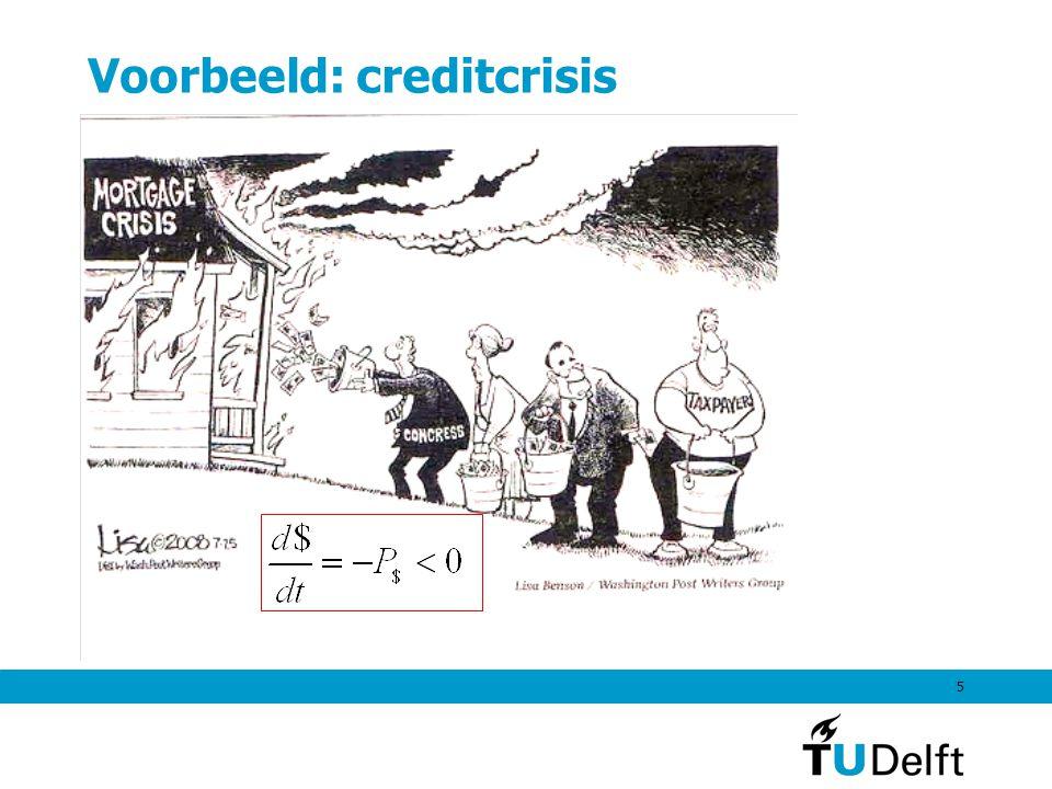 Voorbeeld: creditcrisis