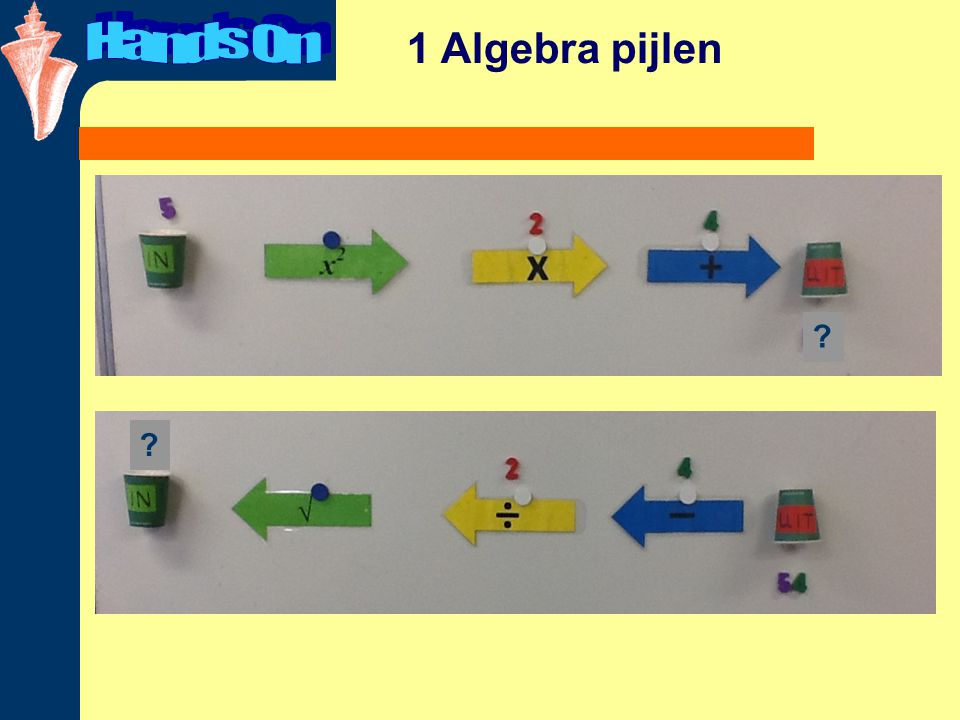 Hands On 1 Algebra pijlen