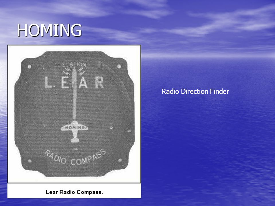 HOMING Radio Direction Finder