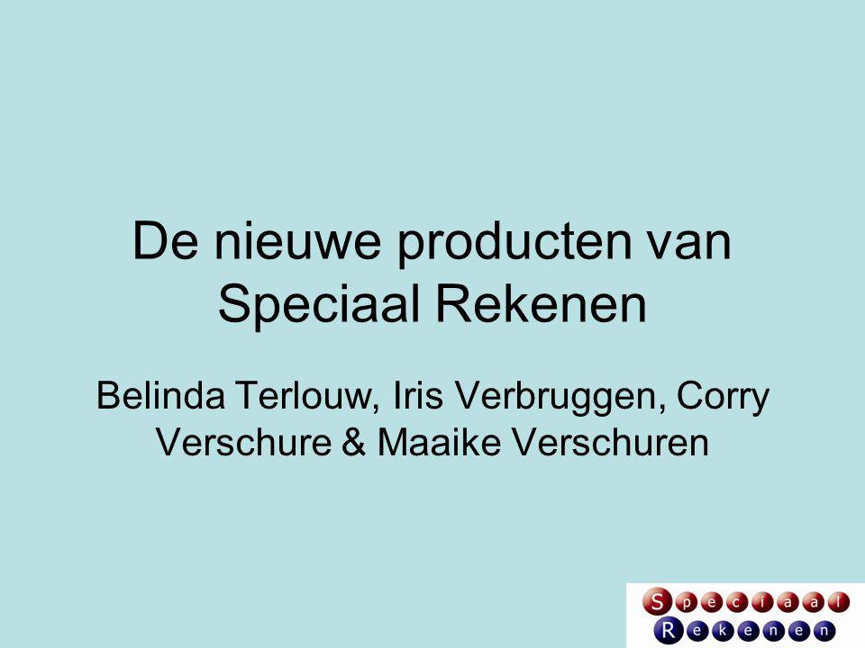De nieuwe producten van Speciaal Rekenen
