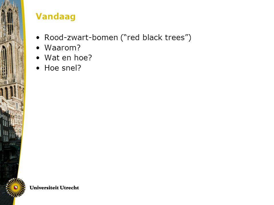 Vandaag Rood-zwart-bomen ( red black trees ) Waarom Wat en hoe