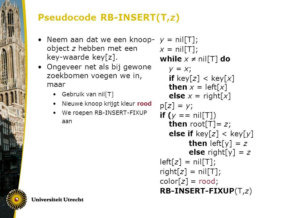 Pseudocode RB-INSERT(T,z)