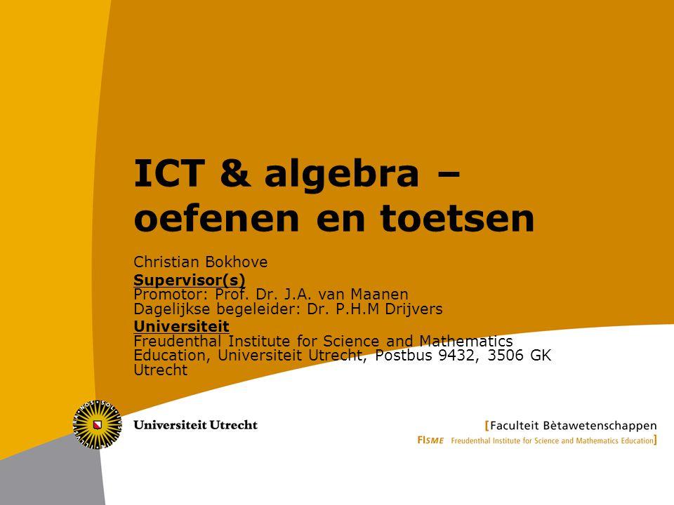 ICT & algebra – oefenen en toetsen