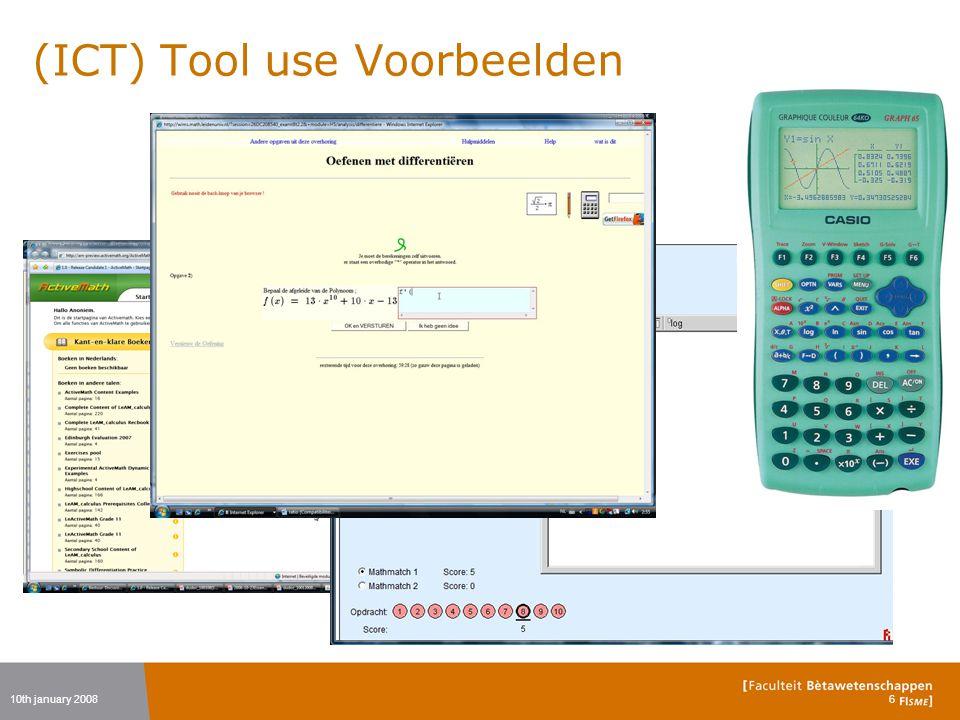 (ICT) Tool use Voorbeelden