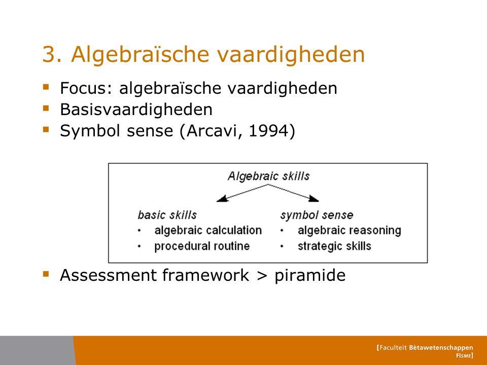 3. Algebraïsche vaardigheden