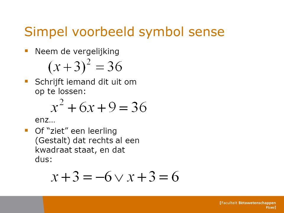 Simpel voorbeeld symbol sense