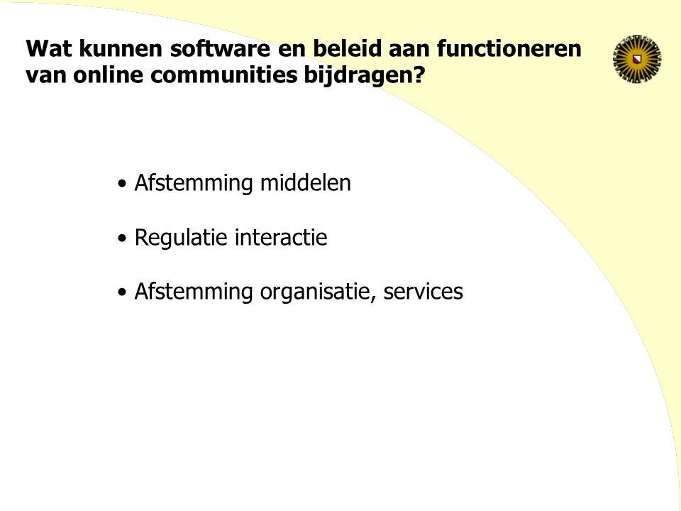 Wat kunnen software en beleid aan functioneren