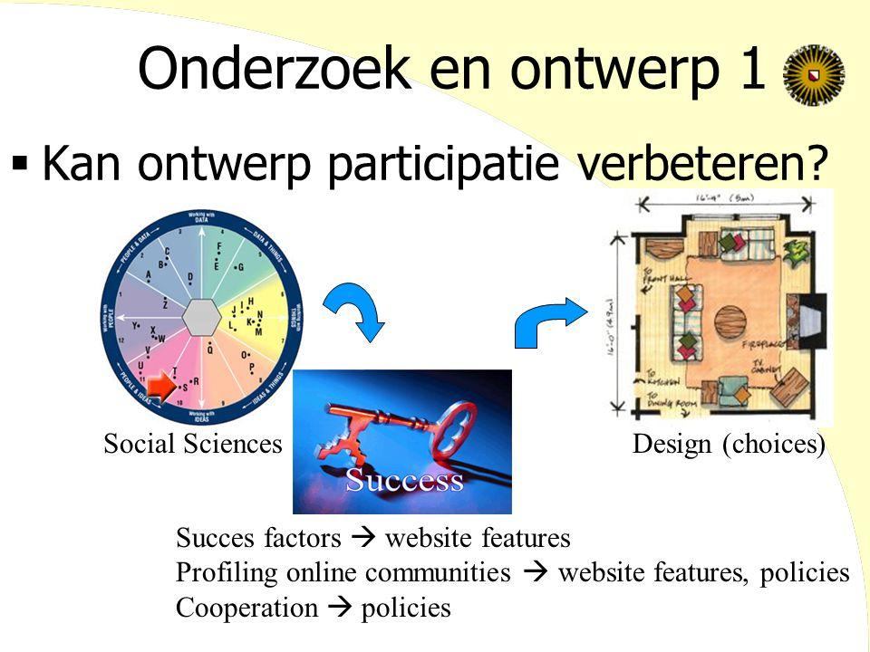 Onderzoek en ontwerp 1 Kan ontwerp participatie verbeteren