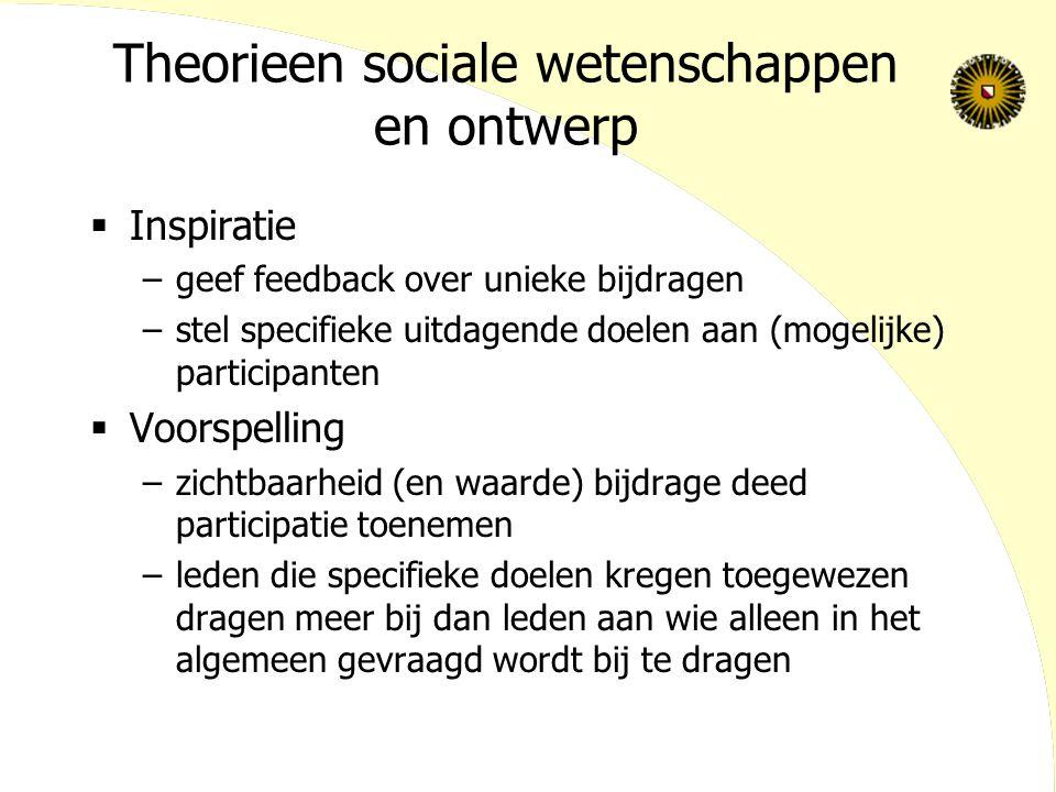 Theorieen sociale wetenschappen en ontwerp