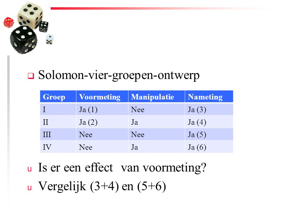 Solomon-vier-groepen-ontwerp