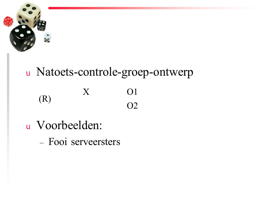 Natoets-controle-groep-ontwerp