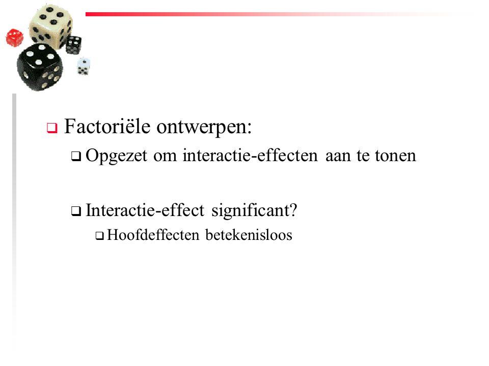 Factoriële ontwerpen: