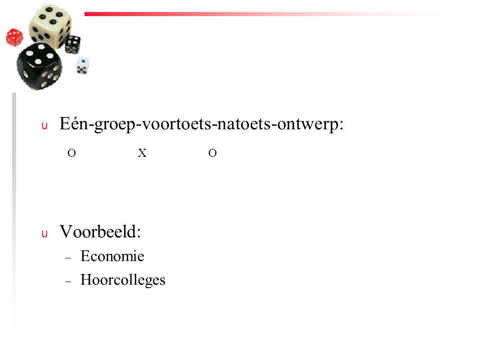 Eén-groep-voortoets-natoets-ontwerp: