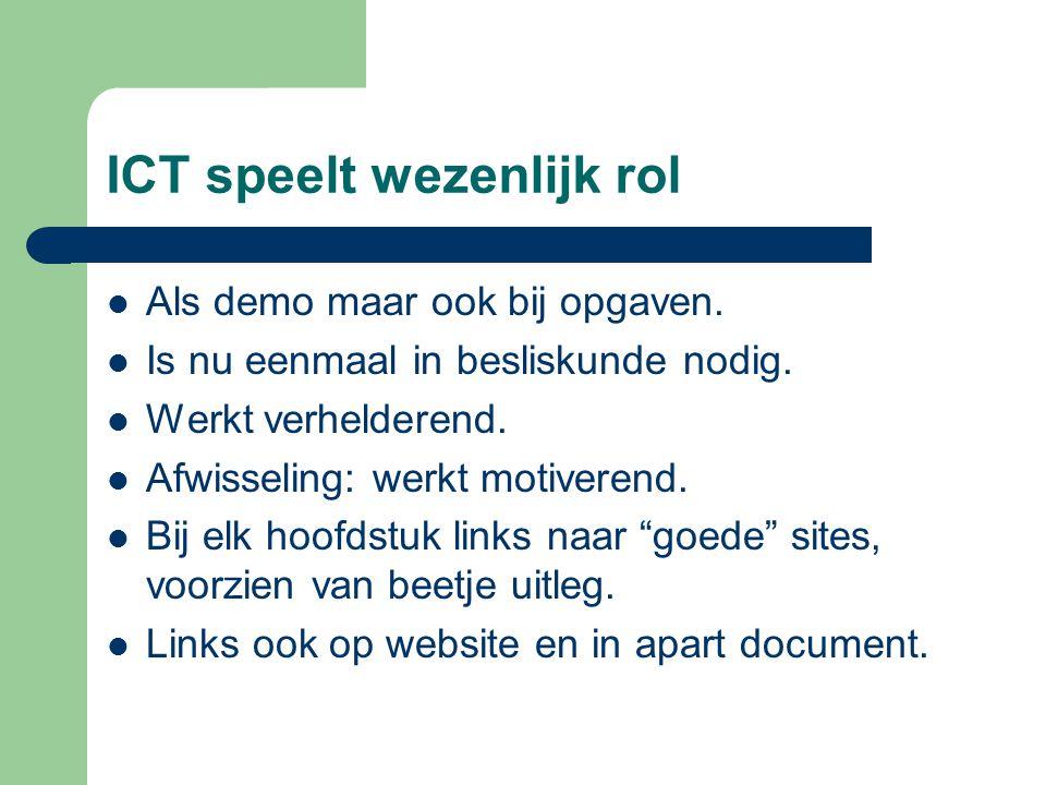 ICT speelt wezenlijk rol