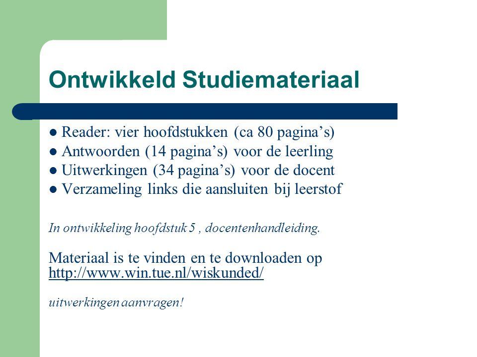 Ontwikkeld Studiemateriaal