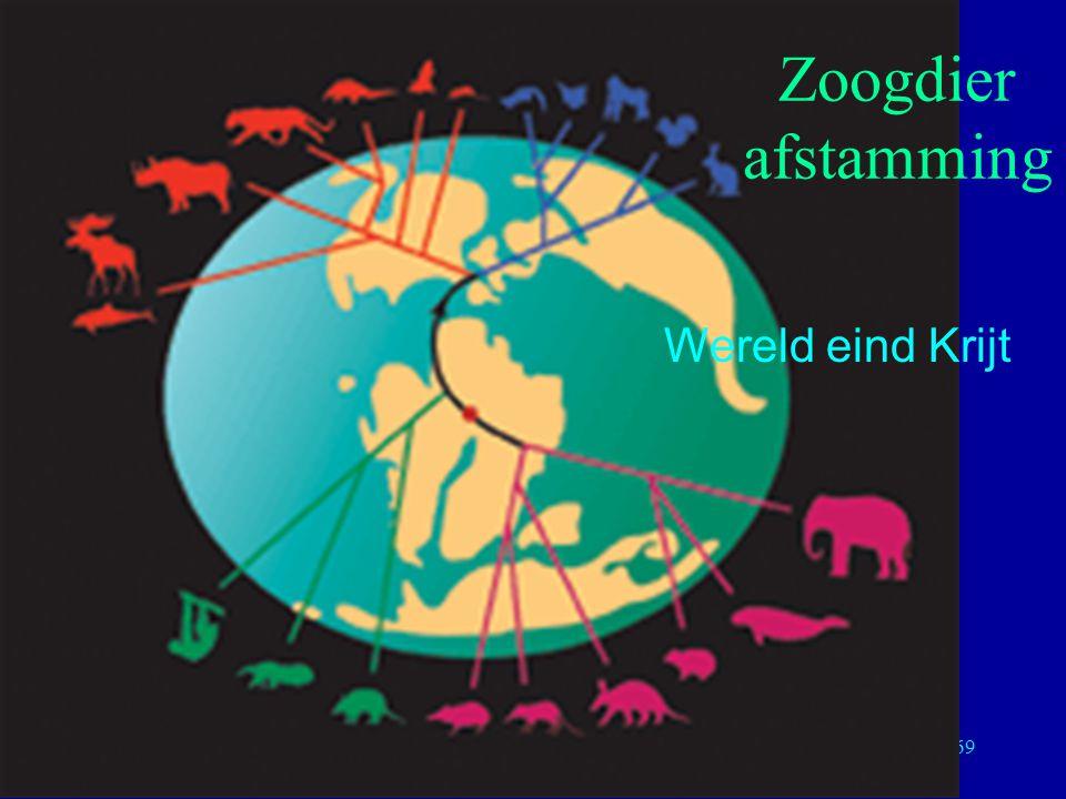 Zoogdier afstamming Wereld eind Krijt Moleculaire Evolutie 22/04/02