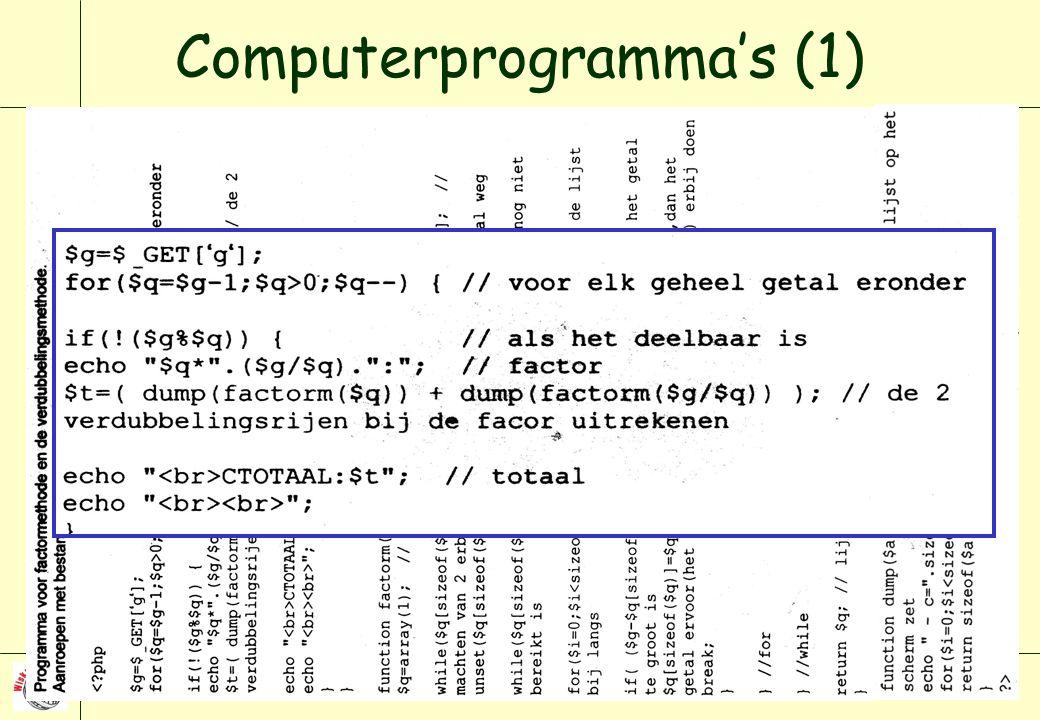 Computerprogramma's (1)